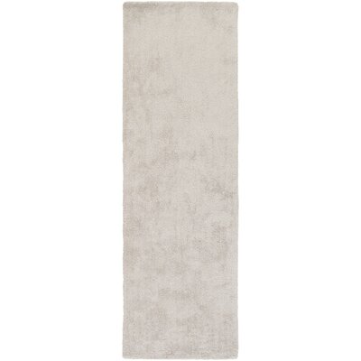 Light Gray Area Rug Rug size: Runner 26 x 8