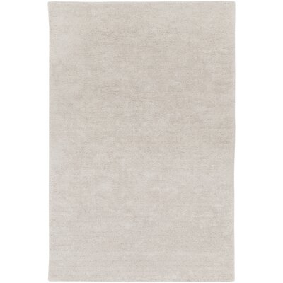 Infant Rectangle Light Gray Area Rug Rug size: 4 x 6