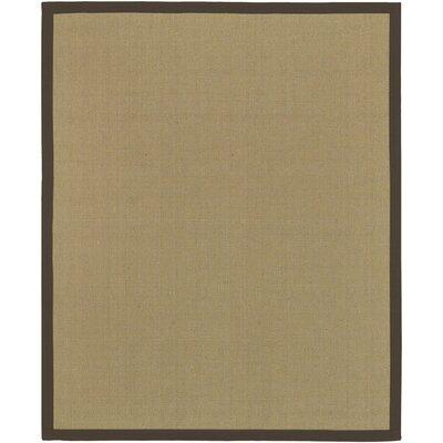 Hand-Woven Tan/Black Area Rug Rug size: 8 x 10