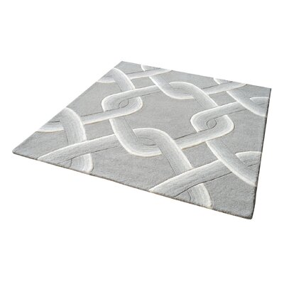 Rowes Hand-Tufted Gray Area Rug Rug Size: Square 14