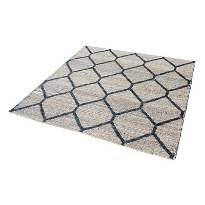 Royersford Hand-Loomed Natural/Black Area Rug Rug Size: Runner 27 x 8