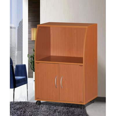 Russellton Microwave Cart Base Finish: Cherry