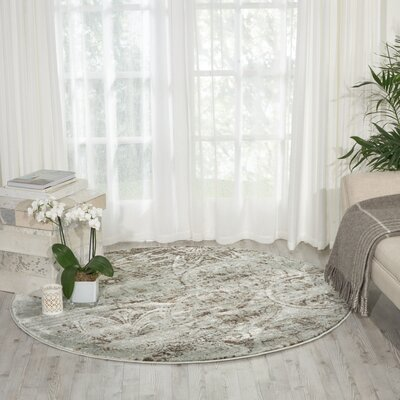 Armand Gray Area Rug Rug Size: Round 53