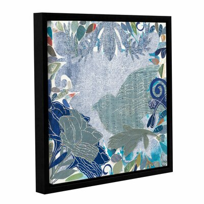 Bird in The Garden Framed Graphic Art on Wrapped Canvas Size: 14