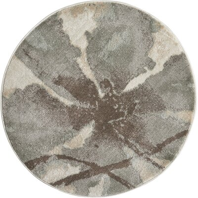 Perrysburg Ivory Area Rug Rug Size: Round 53