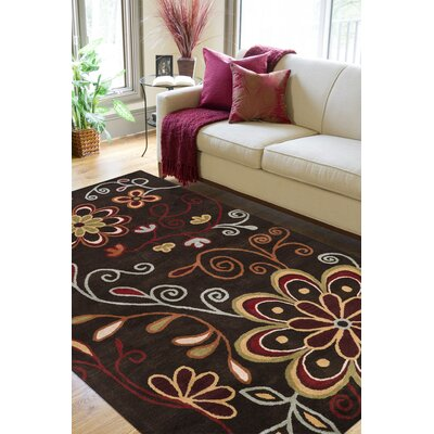 Hayden Brown Area Rug Rug Size: Rectangle 76 x 96