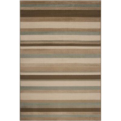 Clearview Stripe Area Rug Rug Size: Rectangle 53 x 76
