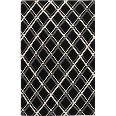 Ketner Black Area Rug Rug Size: Rectangle 8 x 11