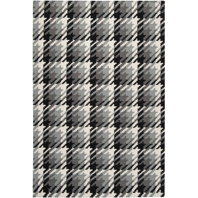 Ketner Jet Black/Pewter Area Rug Rug Size: Rectangle 5 x 8