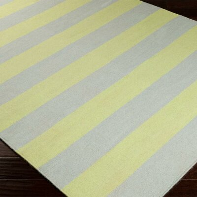 Ketner Hand Woven Wool Gray/Yellow Area Rug Rug Size: Rectangle 9 x 13