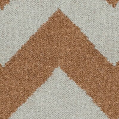 Lowery Dried Oregano/Mocha Chevron Area Rug Rug Size: Runner 26 x 8