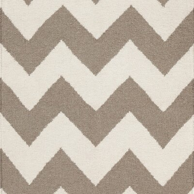 Ketner Chevron Brown Area Rug Rug Size: Runner 26 x 8