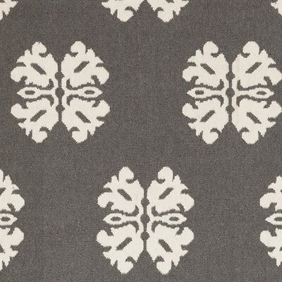 Kramer Pewter/Winter White Floral and Plants Area Rug Rug Size: 5 x 8