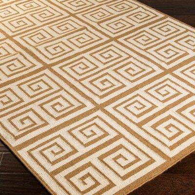 Lowery Raw Umber/Ivory Geometric Area Rug Rug Size: Rectangle 36 x 56