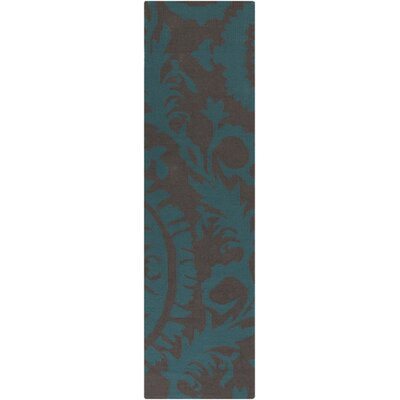 Kramer Turquoise/Mulled Wine Geometric Area Rug Rug Size: Rectangle 36 x 56