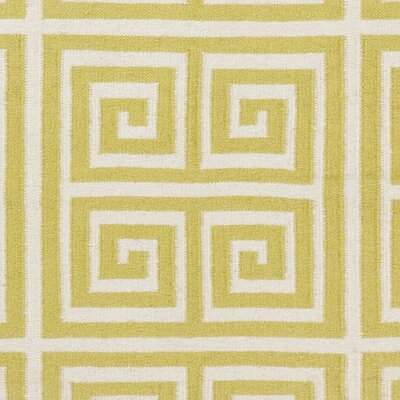 Dickerson Limeade/Winter White Geometric Area Rug Rug Size: 2 x 3