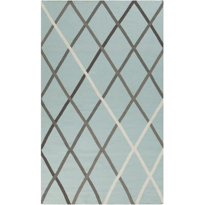 Kramer Blue Haze Geometric Area Rug Rug Size: Rectangle 36 x 56