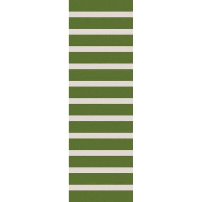 Kramer Ivory/Peridot Striped Area Rug Rug Size: Rectangle 2 x 3