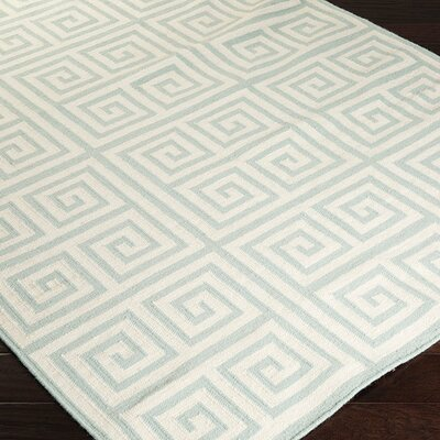 Haggerty Cloud Blue/Papyrus Floral Area Rug