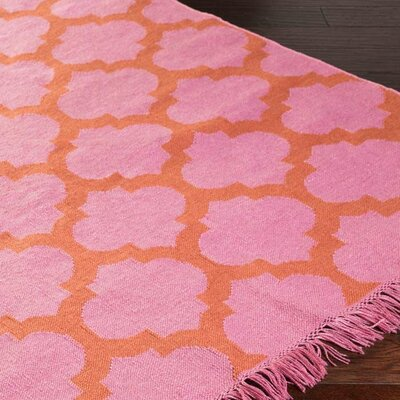 Derby Carnation/Rust Indoor/Outdoor Area Rug Rug Size: 9 x 13
