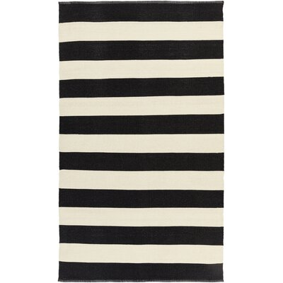 Pasuruan Black/Ivory Indoor/Outdoor Rug Rug Size: 33 x 53