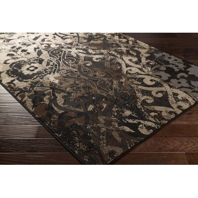 Clearview Beige Area Rug Rug size: 53 x 76