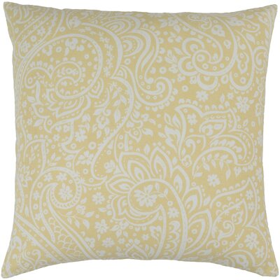 Southwood 100% Cotton Throw Pillow Cover Size: 22 H x 22 W x 0.25 D, Color: YellowNeutral