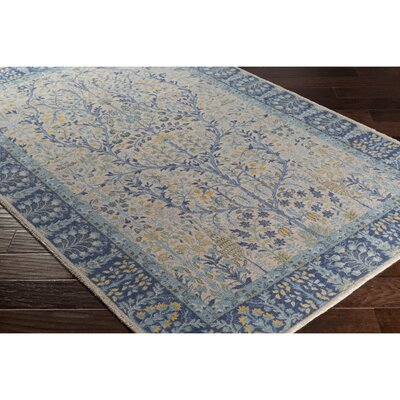 Akins Rectangle Gray/Blue Area Rug Rug Size: Rectangle 53 x 76