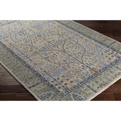 Akins Gray/Green Area Rug Rug Size: Rectangle 8 x 11