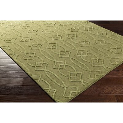 Pamela Hand-Tufted Green Area Rug Rug Size: Rectangle 5 x 76