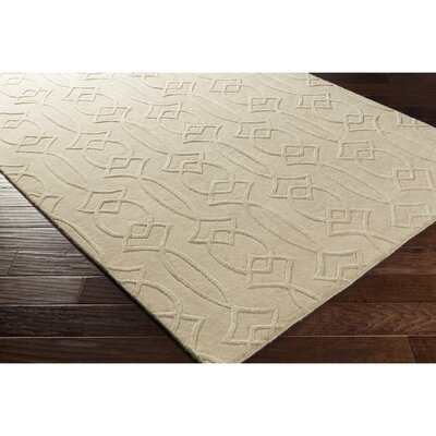 Pamela Hand-Tufted Rectangle Neutral Area Rug Rug Size: 2 x 3