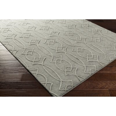 Pamela Hand-Tufted Rectangle Gray Area Rug Rug Size: Rectangle 5 x 76