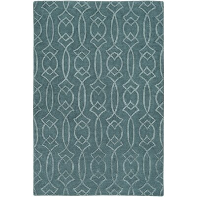 Pamela Hand-Tufted Teal Area Rug Rug Size: Rectangle 8 x 10