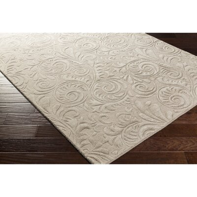 Pamela Hand-Tufted Neutral Area Rug Rug Size: 8 x 10