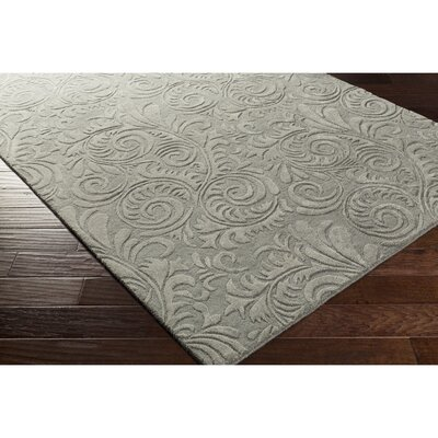 Pamela Hand-Tufted Gray Area Rug Rug Size: Rectangle 5 x 76