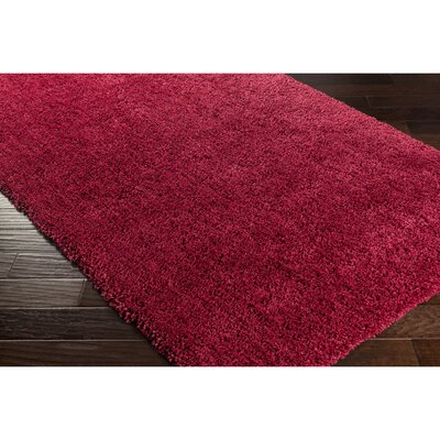 Surratt Hand-Woven Red Area Rug Rug Size: 33 x 53