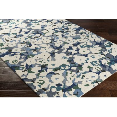 Amanda Hand-Tufted Beige/Gray Area Rug Rug Size: Rectangle 5 x 76
