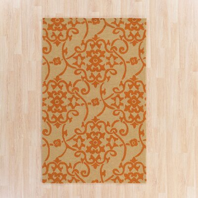 Cynthia Orange Indoor/Outdoor Area Rug Rug Size: 5' x 8'