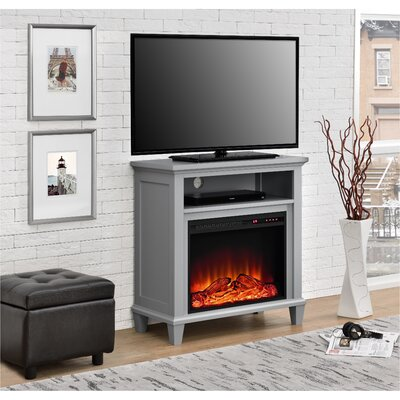 Rosendale TV Stand with Electric Fireplace Color: Gray