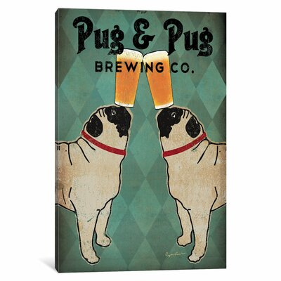 Pug and Pug Brewing Vintage Advertisement on Wrapped Canvas ANDO5273 33330212