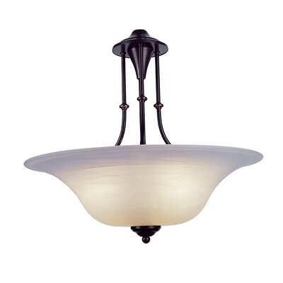 Myranda 3-Light Bowl Pendant Finish: Weathered Bronze