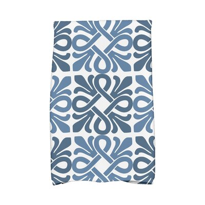 Pattern Hand Towel Color: Blue