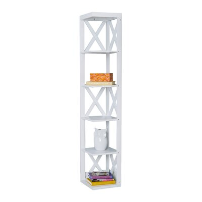 65 Corner Unit Bookcase Color: White