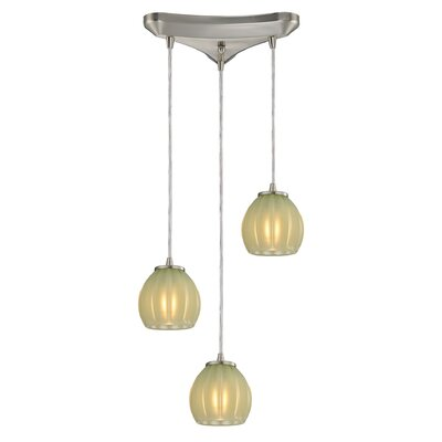 Cantrell 3-Light Cascade pendant