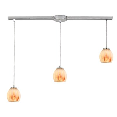 Cantrell 3-Light Frosted Kitchen Island Pendant