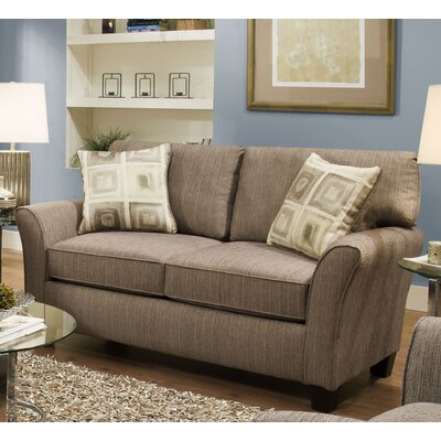 Nancy Loveseat Upholstery: Pewter