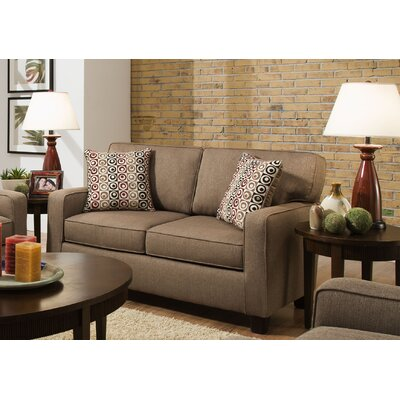 Abbot Loveseat Upholstery Color: Nutmeg