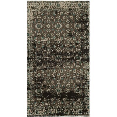 Albion Green/Beige Area Rug Rug Size: Rectangle 67 x 92
