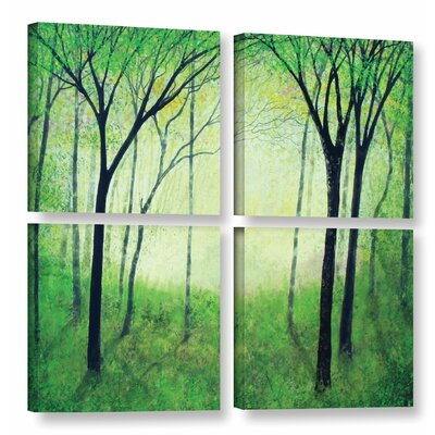 Gutas Forest 4 Piece Painting Print on Wrapped Canvas Set Size: 36