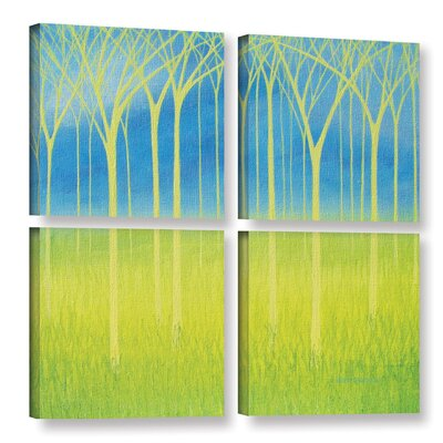 Graceful 4 Piece Graphic Art on Wrapped Canvas Set Size: 36